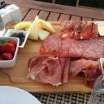 great appetizer of local meats and cheeses