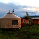 Yurt Office, cabins, and Henry's Coffeehouse