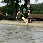 Swing in front of Koh Chang Resort and Spa
