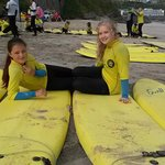 my girls at St Ives Surf school :-D