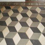 Hall way floor - very Escher