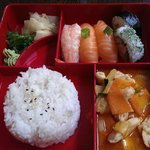 Sushi Mixed mit Thai Curry