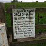 Gate sign of the Great Stone Circle