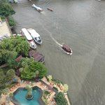 View of Chao Phraya River and the pool from Horizon Club