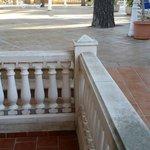 Balkon in der Erde