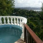 View from our deck in a one bedroom with plunge pool overlooking Castries