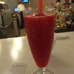 Superb strawberry daiquiri at the main bar.