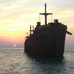 The Greek Ship during sun set