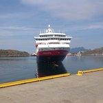 Hurtigruta Nordnorge ankommer Bodø havn 3.august