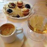 Petit Fours, calvados and coffee....fantastic