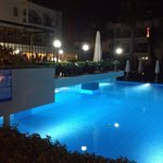 The fantastic pool at night time.  Beautiful <3