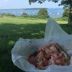 lobster roll sitting on Promenade Park