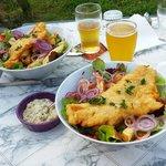 Fish&Chips accompagnés de bière locale !