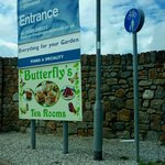 Entrance to Butterfly's Tea Rooms
