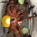 Grill octopus