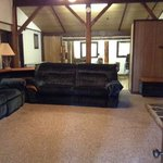 Living room 4 bedroom log cabin