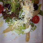 I ordered salad with boiled egg.. This is what I got. The waiters said that this is the boiled e