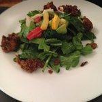 Cajun seitan salad