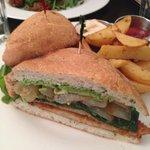 Cajun seitan sandwich
