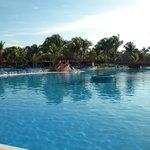 The pool is huge