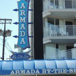 Armada sign in the front of hotel