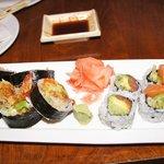 Shrimp Tempura Roll & Alaska Roll