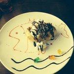 Fried ice cream dessert