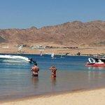 The beach of IBIS Style  on Dahab rea sea Egypt