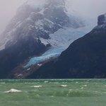 Vista de um dos glaciares que se vê nos tours