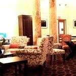 Nostalgic, comfortable lobby