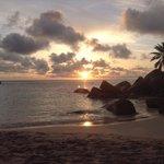 coucher de soleil anse Kerlan