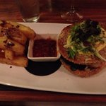 Cremeted burger