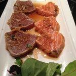Tataki de saumon et thon