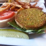 Looks good right? Wrong - frozen veggie patty.