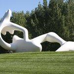 Henry Moore sculpture in the gardens