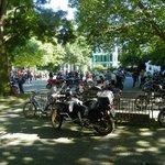 Motorcycle convention at Georgsplatz.