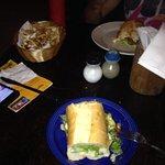 Chicken and pineaple sandwich