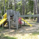 One of the 2 playgrounds on the site.