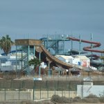 View of the waterpark from the bus.
