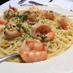 Garlic shrimp linguini!!