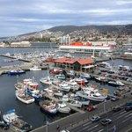 View from room overlooking Hobart Harbour