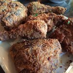 Smoked fried chicken ..... Interesting combination of flavor. Crispy outside, juicy inside.