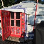Our cozy yurt.