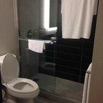 nice, big bathroom and shower