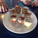 Oyster shooters.