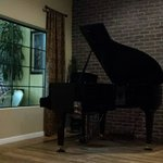 Piano inside dinning room