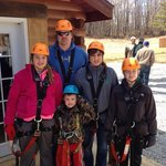 Williams family getting ready to zip line!