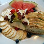 Baked Brie for 2. Delicious Brie with pecans and fresh green apples