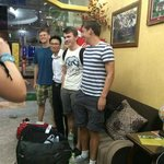 Photos with the Staff at the lovely Hostel