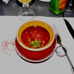 Hot Borsch soup